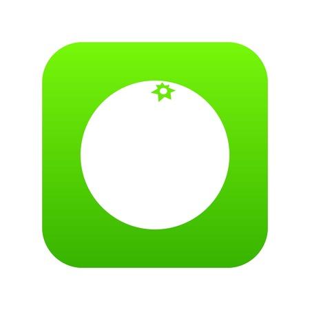 Mandarin fruit digital green icon.  イラスト・ベクター素材