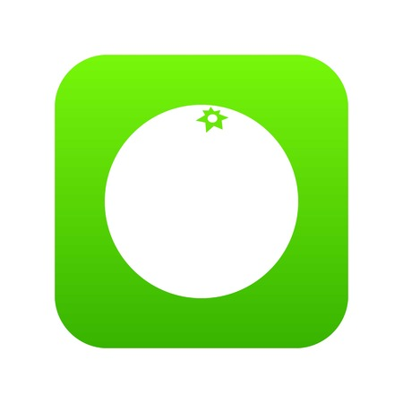 Mandarin fruit digital green icon. 矢量图像