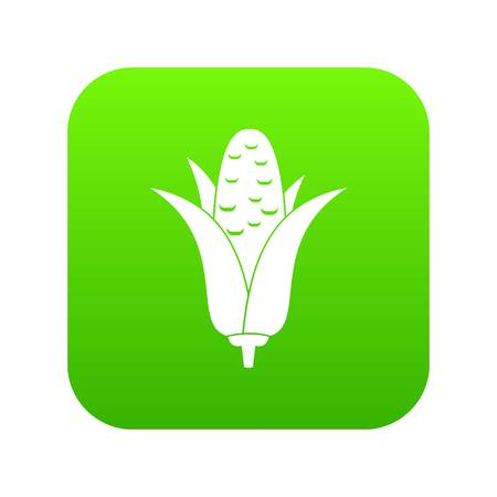 Corncob icon digital green for any design isolated on white vector illustration