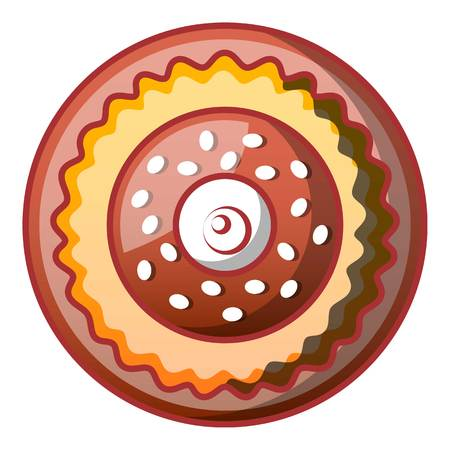 Sweet bakery icon. Cartoon of sweet bakery vector icon for web design isolated on white background