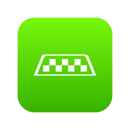 Checker taxi icon digital green for any design isolated on white vector illustration