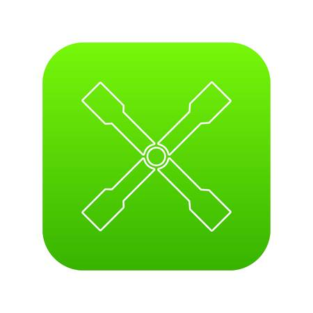 Spanner icon green vector isolated on white background 일러스트