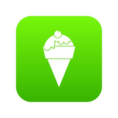 Ice Cream icon digital green for any design isolated on white vector illustration