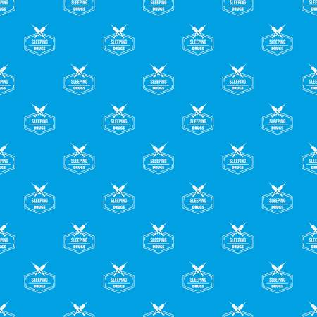 Syringe drug pattern vector seamless blue repeat for any use Illustration