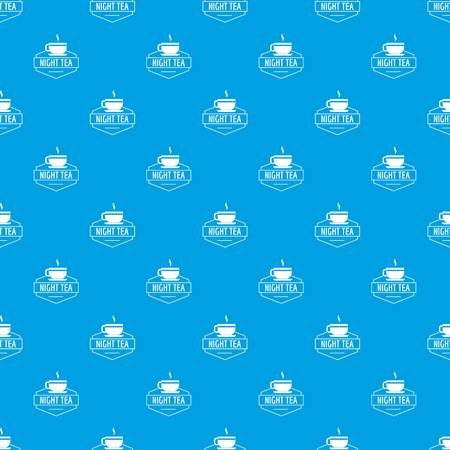 Cup tea pattern vector seamless blue repeat for any use