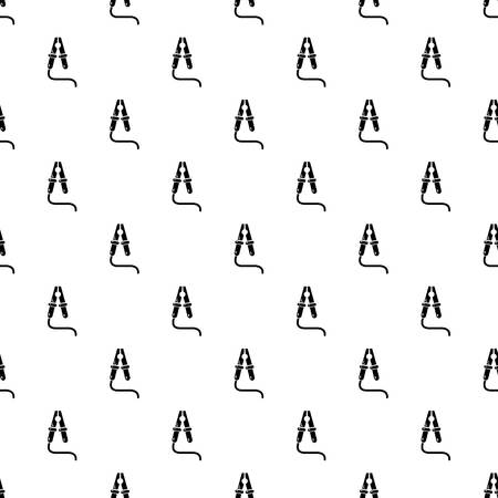 Jumper cable pattern vector seamless repeating for any web design