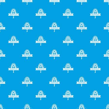 Dreamcatcher pattern vector seamless blue repeat for any use