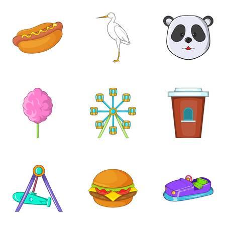 Brute animal icons set. Cartoon set of 9 brute animal vector icons for web isolated on white background Ilustração