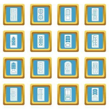 Door icons set vector illustration  イラスト・ベクター素材