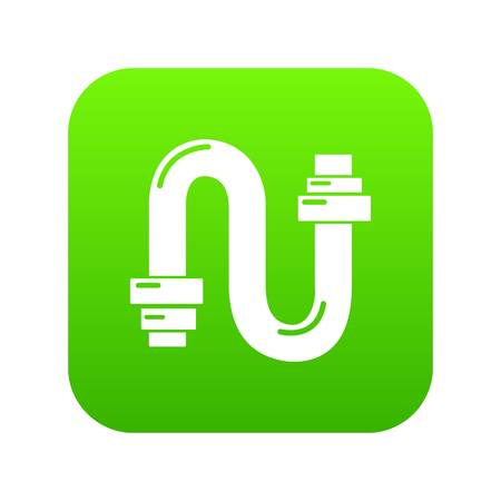 Siphon digital green icon