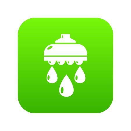 Shower head digital green icon