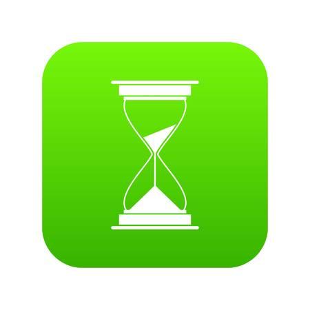 Hour glass digital green icon