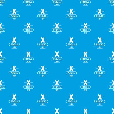 Pencil pattern vector seamless blue