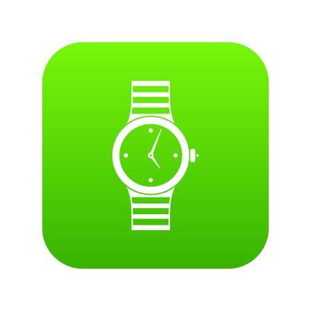 Watch icon digital green Illustration