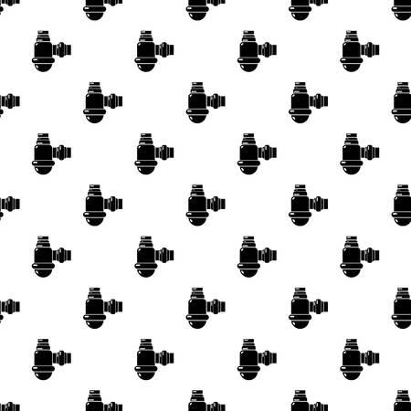 Sewage siphon pattern vector seamless