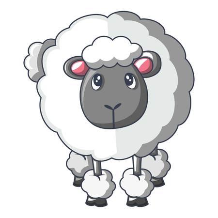 Front of sheep icon, cartoon style Stok Fotoğraf - 100953278