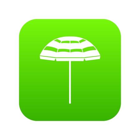 Beach umbrella icon digital green for any design isolated on white vector illustration Standard-Bild - 100965017