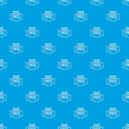 Fence decorative pattern vector seamless blue