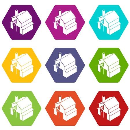 Smithy icons set vector Illustration