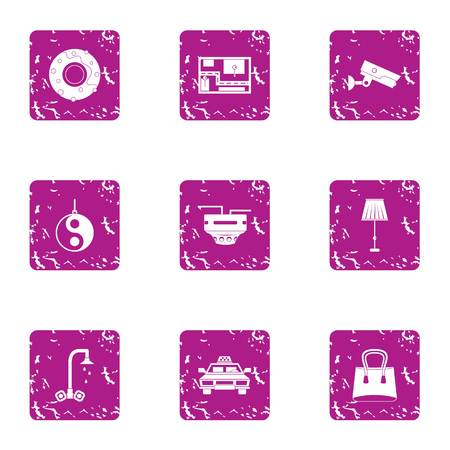 Professional supervision icons set. Grunge set of 9 professional supervision vector icons for web isolated on white background