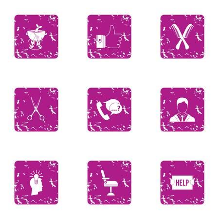 Brilliant idea icons set. Grunge set of 9 brilliant idea vector icons for web isolated on white background
