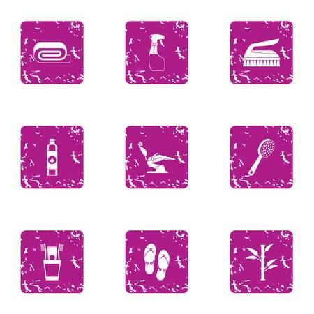 Womanish icons set. Grunge set of 9 womanish vector icons for web isolated on white background.