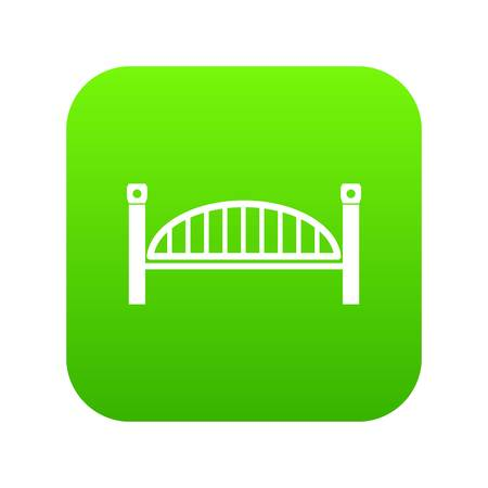 Modern arch bridge icon green vector