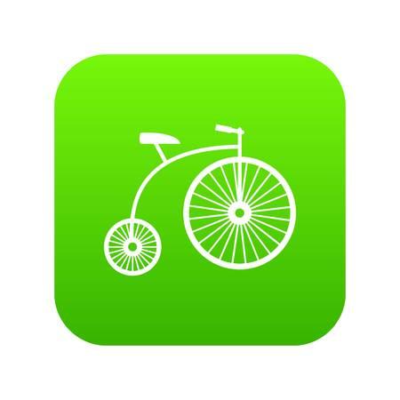 Penny-farthing icon digital green