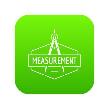 Compas icon green vector Illustration