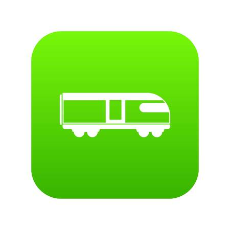 Swiss mountain train icon digital green