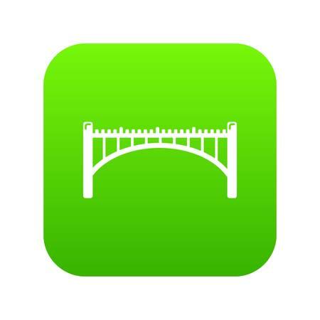 Road arch bridge icon green vector
