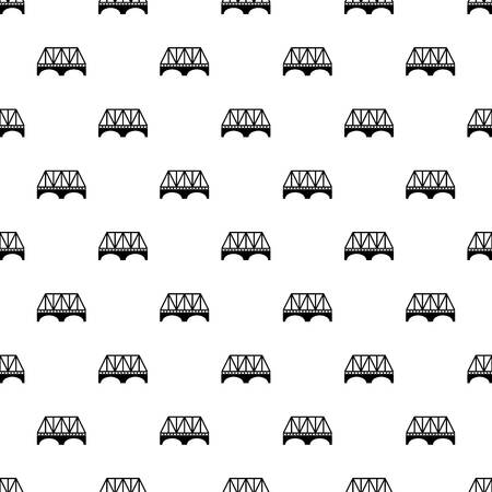 Railway arch bridge pattern vector seamless