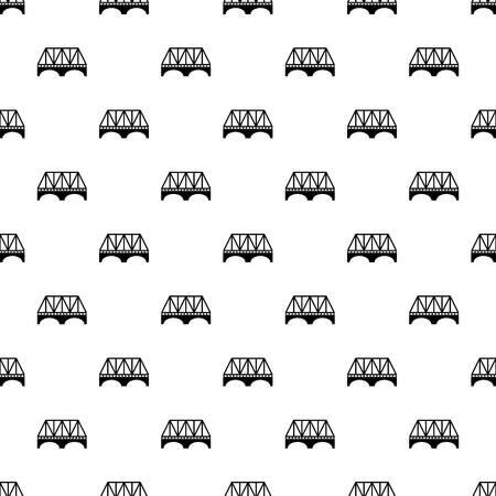 Railway arch bridge pattern vector seamless