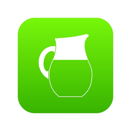 Pitcher of milk icon digital green for any design isolated on white vector illustration Illusztráció