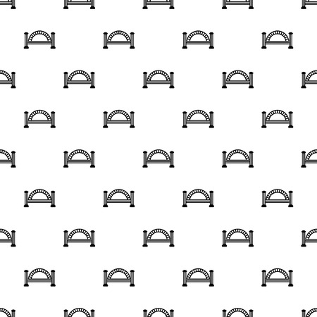 Metallic bridge pattern vector seamless