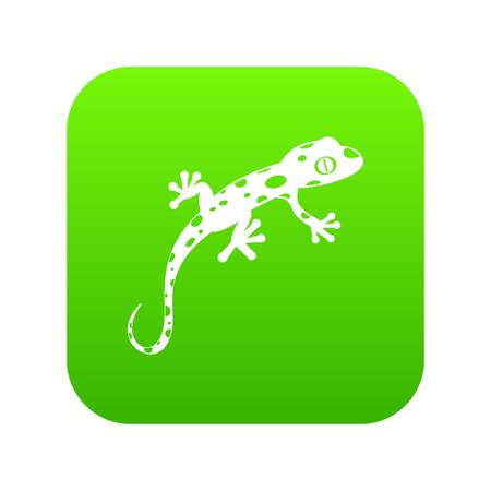 Chameleon icon digital green
