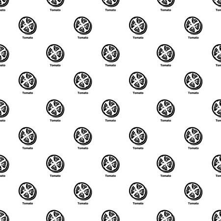 Tomato pattern vector seamless repeating for any web design