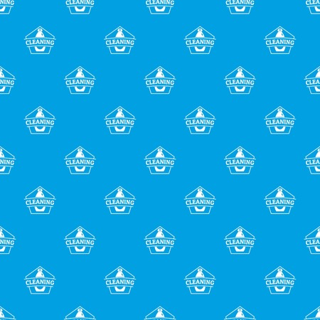 Cleaning bottle pattern vector seamless blue repeat for any use Vectores