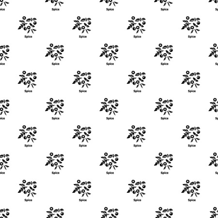 Spice pattern vector seamless repeating for any web design