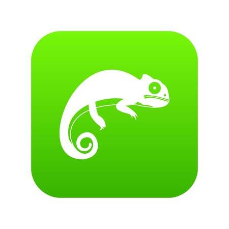 Chameleon icon digital green