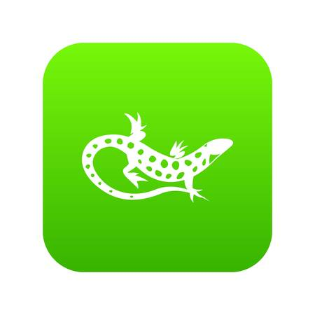 Lizard icon digital green for any design isolated on white vector illustration