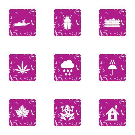Spontaneous icons set. Grunge set of 9 spontaneous vector icons for web isolated on white background
