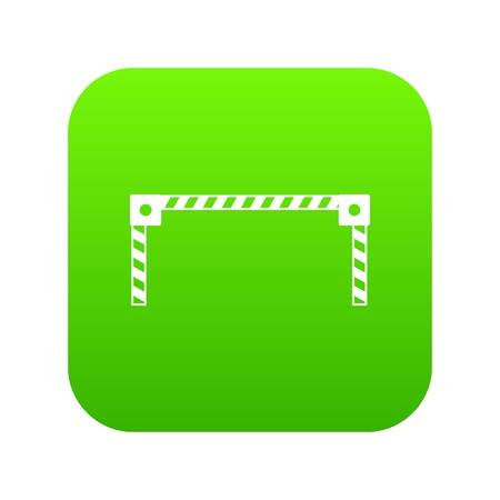 Barrier icon digital green for any design isolated on white vector illustration