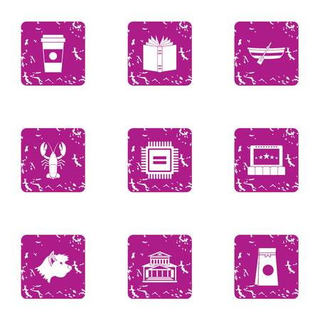 Digital treatment icons set. Grunge set of digital treatment vector icons for web isolated on white background Illustration