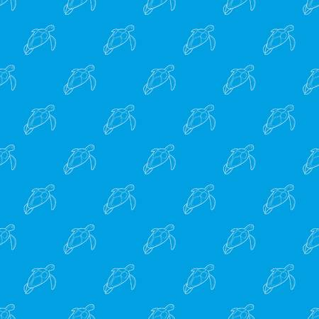 Turtle pattern vector seamless blue repeat for any use
