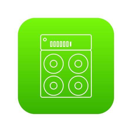 Speaker box icon green vector
