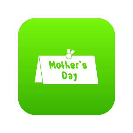 Mother Day postcard icon digital green