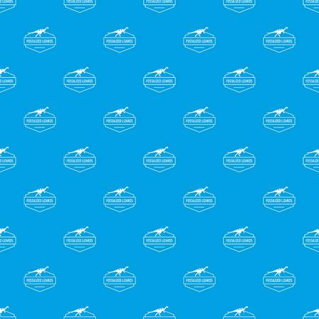 Jurassic lizard pattern vector seamless blue
