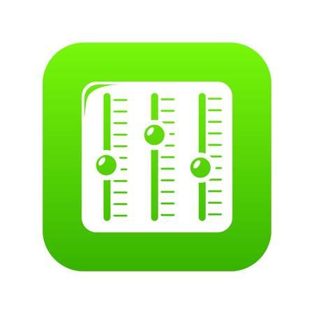 Sound mixer icon green vector