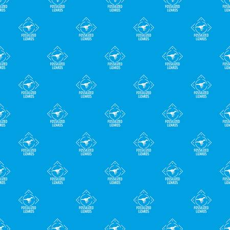 Fossilized lizard pattern vector seamless blue repeat for any use Illustration